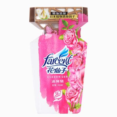 花仙子 玫瑰香空氣清新劑臥室家用內除味神器固體清香衛生間廁所除臭香薰 1瓶裝