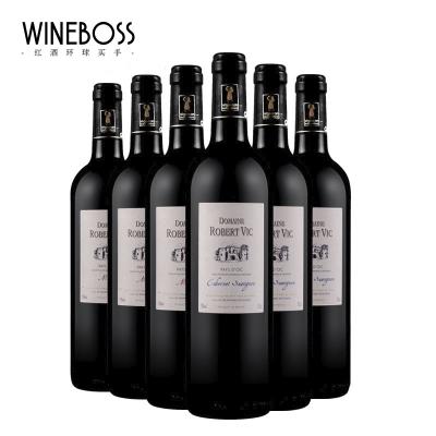 WINEBOSS 法国原瓶进口红酒干红葡萄酒 赤霞珠干红葡萄酒 整箱6支
