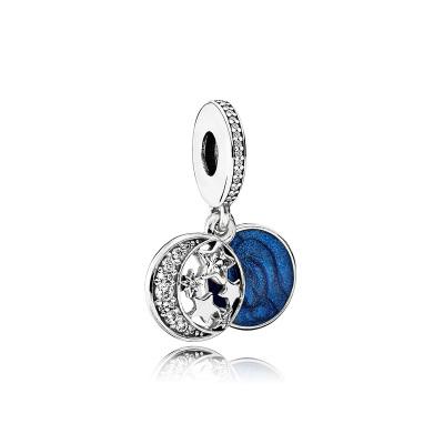 PANDORA潘多拉 手链925银时尚蓝色系串珠 791993CZ