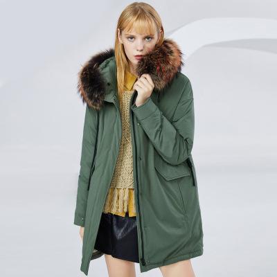 BOSIDENG брэндийн өвлийн эмэгтэй зузаан куртка B80141130 160/84A ногоон4201