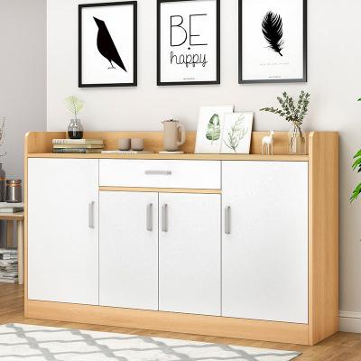 騰煜雅軒 人造板式客廳家具 鞋柜家用口大容量經濟型玄關柜多功能簡約現代廳柜仿實木鞋柜
