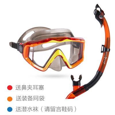 因樂思(YINLESI)潛水鏡成人近視全干式呼吸管器套裝防霧面罩浮潛三寶裝備