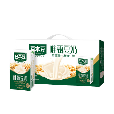 豆本豆 唯甄原味豆奶 250ml*24包 6000ML(新老包装随机发货)