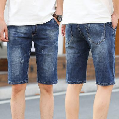 夏季薄款男士牛仔短褲五分直筒男裝彈力