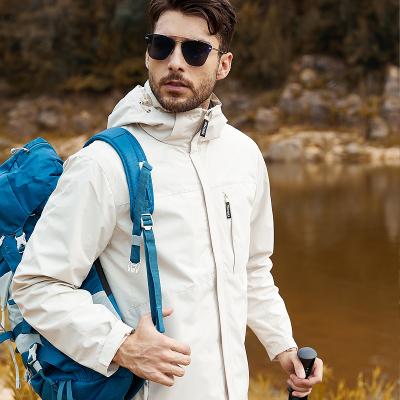 木林森(MULINSEN)三合一兩件套羽絨棉內膽沖鋒衣加厚保暖鎖溫釣魚服戶外服