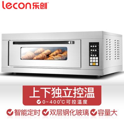樂創(lecon) 一層一盤微電腦 烤箱商用電烤箱電熱大型烤箱蛋糕面包披薩蛋撻烘焙烤爐大容量