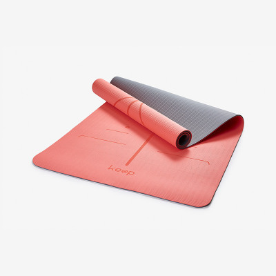 Keep 加宽体位线瑜伽垫 加长加宽耐磨减震防滑天然橡胶男女健身7mm厚