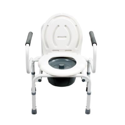 可孚孕婦坐便凳老年人坐廁 可調節高度可折疊牢固坐便椅洗澡椅帶便盆 ZC067
