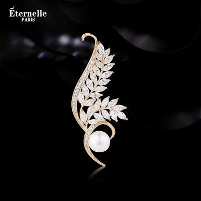 法國Eternelle波西米亞風胸針女氣質 秋冬服裝配飾開衫扣領針胸花