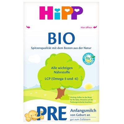 【保稅區包稅包稅】德國原裝進口喜寶Hipp嬰幼兒配方BIO有機奶粉PRE初段0-3月 600g/每盒