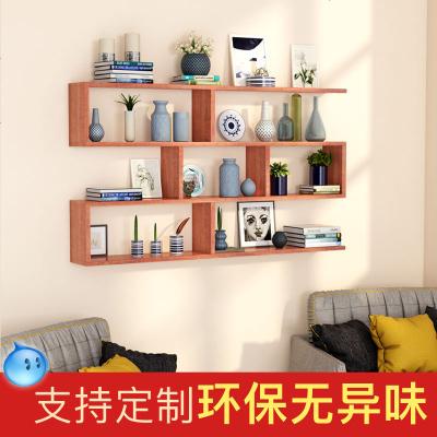 HOTBEE墻上置物架壁掛實木隔板定制壁柜墻上儲物柜餐廳創意酒架書架墻上