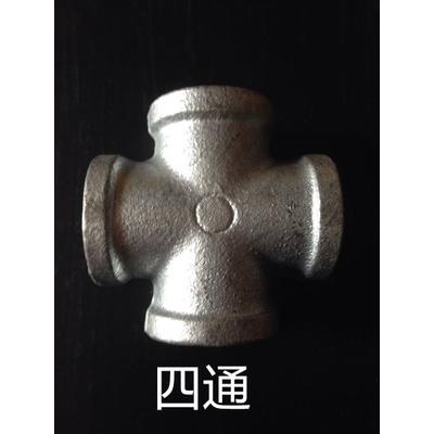 自來水管配件鍍鋅瑪鋼鐵CIAA接頭4分DN15立體四通 外接 直通 彎頭三通 4分四通