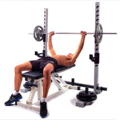 分体举重床深蹲架卧推架杠铃套装健身器材家用举重床专业深蹲架