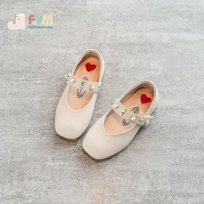 女童鞋子儿童皮鞋黑2019年秋季新款小公主宝宝豆豆单鞋软底春秋鞋