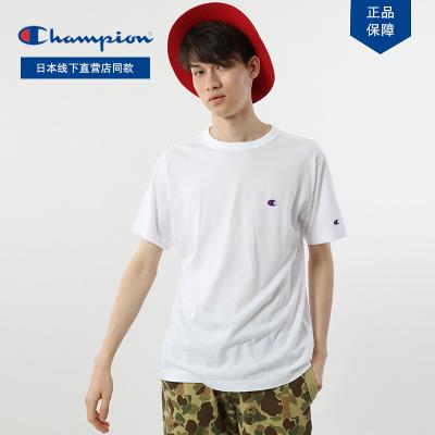 日版Champion冠軍正品C3-P300-雙C小刺繡T恤潮流情侶