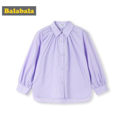 【1件5折】巴拉巴拉童装女童衬衫春季2019新款儿童衬衣长袖纯棉小童宝宝上衣
