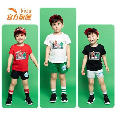 安踏(ANTA)官方旗艦店 兒童小童男童裝漫威衣褲兩件運動套裝