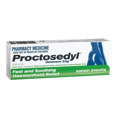 Proctosedyl 【澳洲進口】 Ointment 痔瘡膏 30g 澳洲 綠色(內用+外用)*1