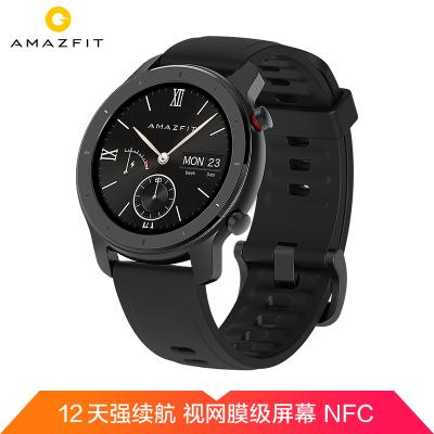 小米 華米(Amazfit)GTR 42mm星空灰 智能手表 華米戶外GPS定位跑步游泳運動健康男女多功能心率防水
