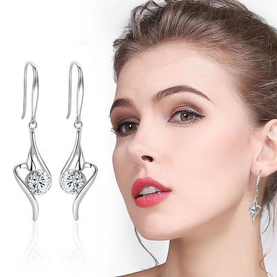 法蔻輕奢品牌耳釘女韓國翅膀s925簡約氣質顯的耳勾個性耳環情人節生日520送女友