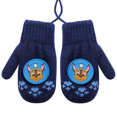 热卖汪汪队儿童手套冬保暖男童女童加绒女孩可爱卡通幼儿园男孩小宝宝