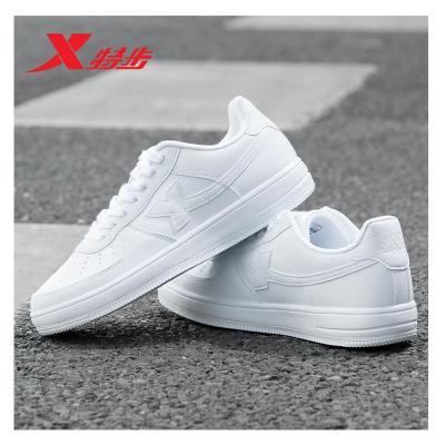 特步女鞋板鞋2020春季運動鞋男鞋白色低幫男士休閑鞋情侶款小白鞋