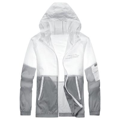 波斯萊 新款防曬衣男士戶外騎行連帽夾克2020新款夏氣輕薄透氣戶外運動外套ins潮防潑水皮膚衣E