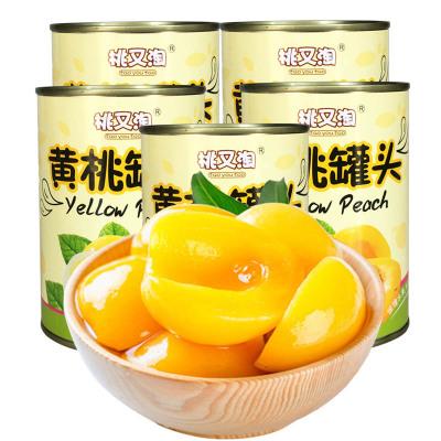 【中華特色】豐縣館 桃又淘黃桃罐頭425g*1罐裝 新鮮水果罐頭 方便速食休閑零食