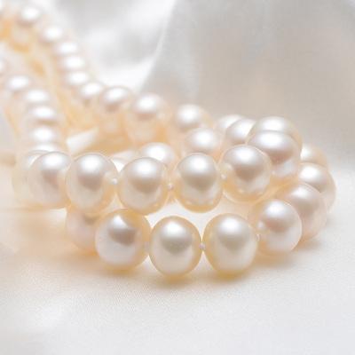 【京潤珍珠】芳華 白色淡水珍珠項鏈近圓強光7-11mm送媽媽送婆婆正品 珠寶寵自己送媽媽
