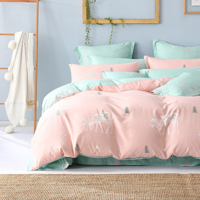 百麗絲家紡 水星出品 床單被套三/四件套床上用品 林深見鹿