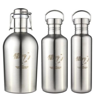 运动水壶水壶全不锈钢单层大容量冷水杯登山旅行户外