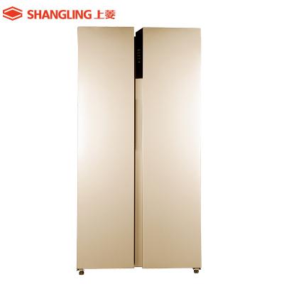上菱(shangling) BCD-519WSKE(玫瑰金)519L对开门冰箱 风冷无霜 触屏智控 家用大容量电冰箱
