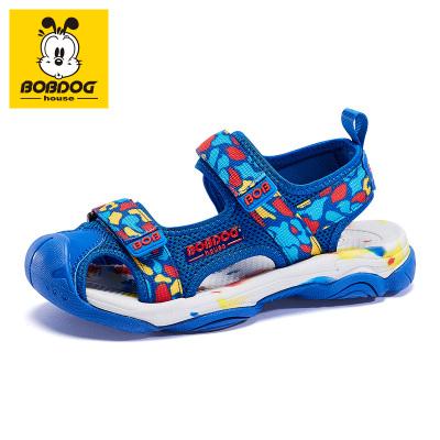 BOBDOG HOUSE巴布豆童鞋兒童涼鞋夏季男童軟底女童小學生沙灘鞋子B6215