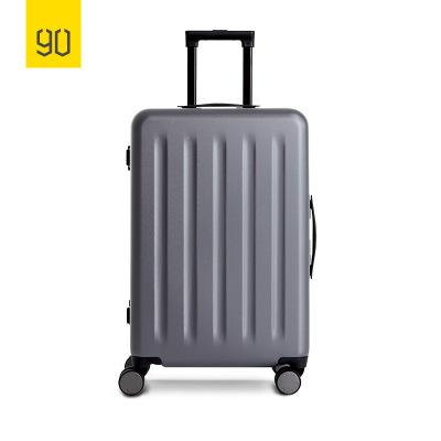 90分轻致PC铝框旅行箱 静音万向轮商务差旅拉杆行李箱 20寸 星空灰