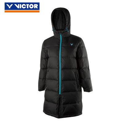 VICTOR/威克多 羽毛球服羽絨服中長款兒童連帽冬季保暖防風87703