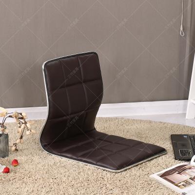 苏宁放心购榻榻米椅子和室椅 床上椅子靠背 懒人床上无腿椅日韩式凳子学生寝室宿舍靠椅SN9413 棕色方格加厚款 整装简约