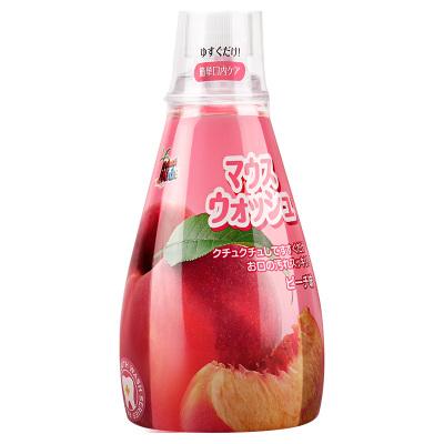 日本進口德露寶兒童漱口水寶寶專用3-6-12歲防蛀可吞咽水蜜桃果味340ml