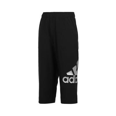 阿迪達斯adidas 男小童裝針織透氣訓練運動七分褲FM9782