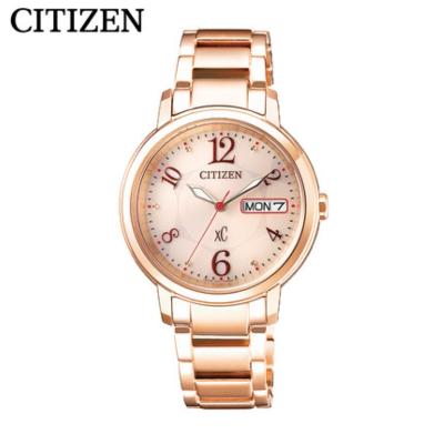 國行 西鐵城(CITIZEN)手表 光動能不銹鋼表帶 商務時尚簡約女表 EW2423-52WB