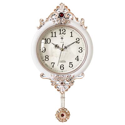 北極星(POLARIS)歐式田園擺鐘客廳靜音掛鐘美式裝飾時鐘皇室宮廷墻鐘壁鐘簡約時尚鐘表掛表創意石英鐘表