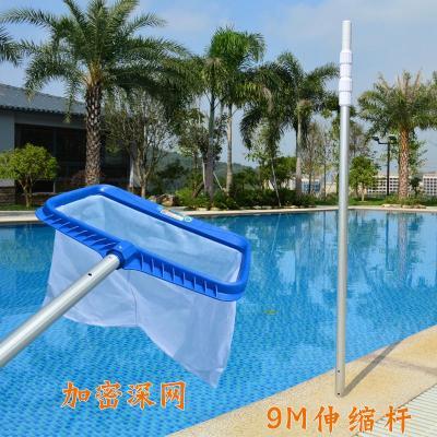 游泳池撈網超密泳池撈葉網大號魚池水景池水池清潔打撈網配伸縮桿