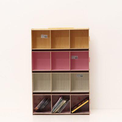 創意家居DVD收納架光盤碟片收納DIY木質收納用品可疊加CD架F1