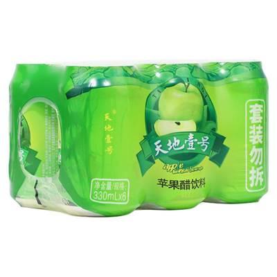 天地壹號 蘋果醋飲料330ml*6罐/組 健康佐餐飲料 酸甜可口 清爽解膩