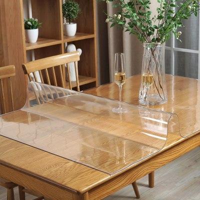 京城派 餐桌布茶幾墊膠墊軟玻璃pvc軟玻璃抖音同款防水防燙防油免洗塑料透明餐桌墊免費裁剪異形裁切