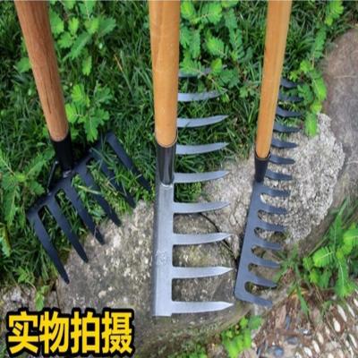 铔孜 农具钉耙树叶耙 9齿耙头_1.2米木柄YZ-068