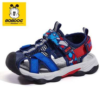 巴布豆BOBDOG HOUSE童鞋兒童涼鞋2020夏季新款男童女童包頭中大童休閑沙灘鞋