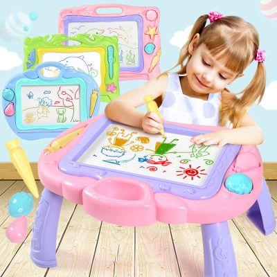兒童彩色磁性畫板桌寫字畫畫涂鴉板寶寶早教玩具畫架畫板套裝弧威