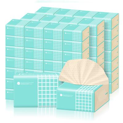 谷斑本色抽纸40包整箱实惠装3层加厚丽人装纸巾家用面巾纸抽擦手纸巾