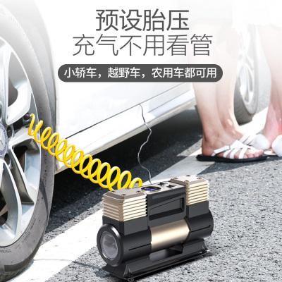 尤利特(UNIT)車載充氣泵小轎車便攜式汽車電動輪胎多功能12v加氣泵車用打氣筒數顯款 YD-382D帶收納包