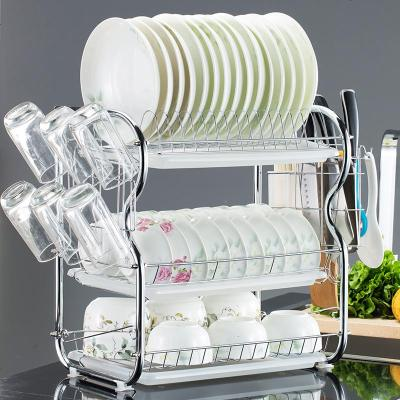 廚房放碗和盤子的架子不銹鋼碟子架大號濾水刀架用品筷子筒砧板餐